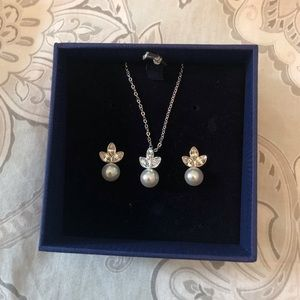 Swarovski matching earrings and necklace
